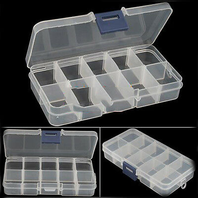 New Empty Storage Container Box Case for Nail Art Tips Rhinestone Gems UK Stock