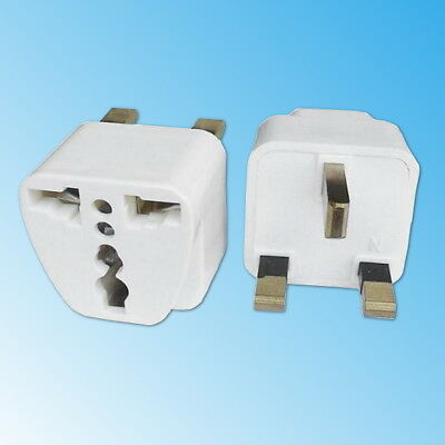 Adattatore da Viaggio Spina Inglese a Presa Italiana Travel Adapter UK Bianco