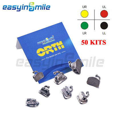 50set EASYINSMILE Dental Orthodontic Buccal Tube Two-piece Construction ROTH/MBT