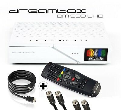 Dreambox DM900 Ultra HD 4K E2 Linux PVR Sat Receiver TWIN DVB-S2 FBC Tuner weiß