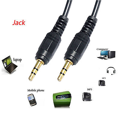 1m Pro 3.5mm Jack to Jack Plug Aux Stereo Audio Male to Male Gold Cable Lead UK