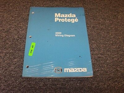 2000 mazda protege sedan electrical wiring diagram manual dx lx es 1 6l 1 8l
