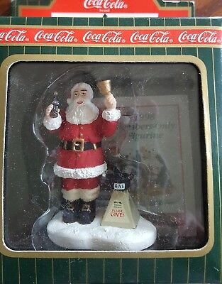 Coca Cola Town Square Collection Charity Santa Christmas gift in box
