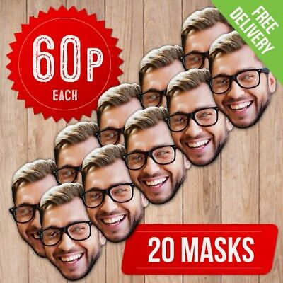 20 Pack - Diy Personalised Face Masks - Custom Face Masks - Self Assembly Kit