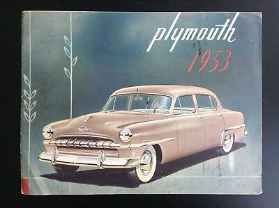 Catalogue Plymouth 1953 BON ETAT  automobile