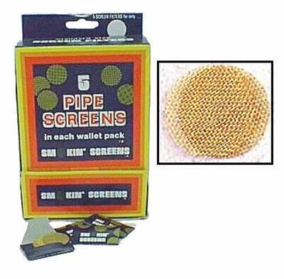 "25 Pack of Brass Smoking Pipe Bowl Screens 3/4"" .750 size Tobacco Filter 1108-5"