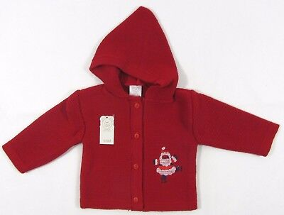 Baby Babies Girls Boys Cardigan Hood Santa Hoodie Christmas Novelty Knit Xmas 9