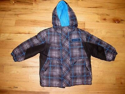 Boys Gray/Black/ Plaid Size 24 Months Hooded Jacket Puffer  Pacific Trail Winter
