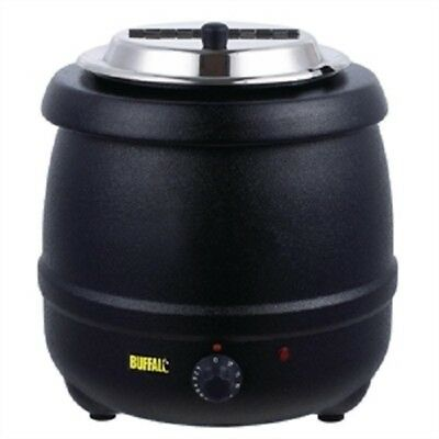NEW L715 Buffalo 10L Black Electric Soup Kettle/Mulled Wine Warmer