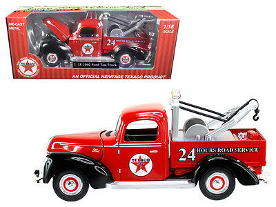 "1940 Ford Tow Truck ""Texaco"" Red 1:18 Diecast Model - 0607"