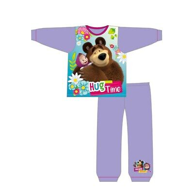 Girls Children Baby Toddler Masha and the Bear Long Pyjamas Pjs set Age 2-9 yrs