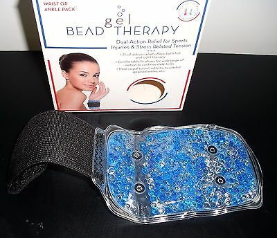 GEL Reusable Hot Cold Pack Wrap Bead Therapy Wrist Ankle NIB