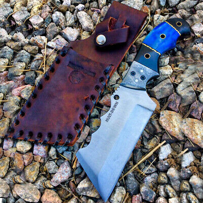 """Hunt-Down 8"""" Full Tang Hunting Tactical Survival Knife Steel Blade Horn Handle"""