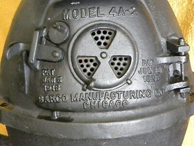 Antique railroad, caboose, wood and coal burning stove, patented in 1923