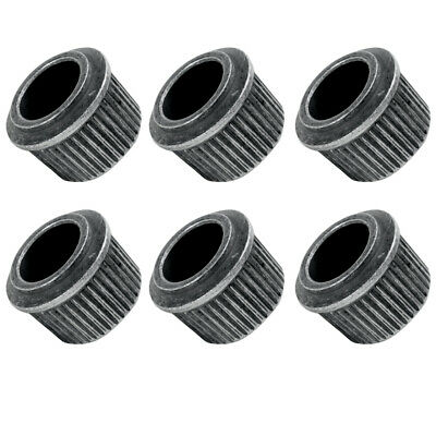 StewMac 10.5mm Round Conversion Bushings, Relic nickel, set of 6