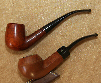 LOT of 2 FRENCH ESTATE PIPES : JEAN CHRETIN + JEAN LACROIX