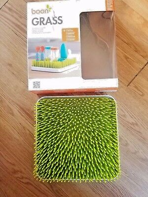 "Boon Grass Countertop Green Bottle Drying Rack BPA PVC Free 9.5""x9.5"" x 2.5"""