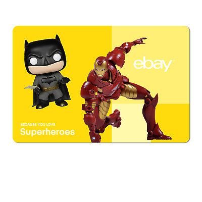 Because You Love Superheroes  - eBay Digital Gift Card $15 to $200