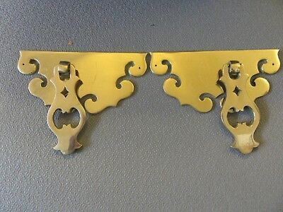 2 -  Large Brass Drawer Pulls  - Furniture   - Vintage -