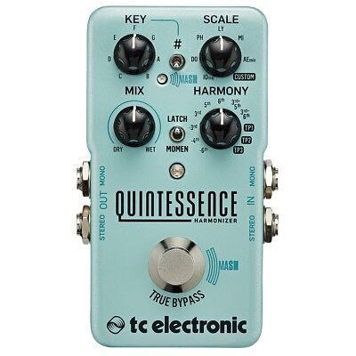 TC Electronic Quintessence Harmonizer Dual Voiced True Bypass Effects Pedal