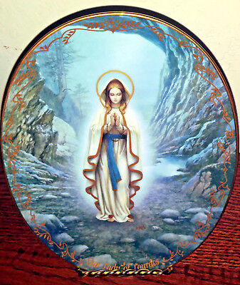 Our Lady of Lourdes 1994 Bradford Exchange Collector Numbered Plate Virgin Mary