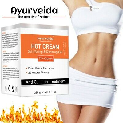 Anti Cellulite Hot Cream Slimming-Deep Muscle Relaxation Oil - 87% Organic 250ml