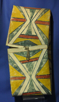 "Antique Plains / Sioux Parfleche 26"" x 12"" x 4"" c.1890 Native pigments, rawhide"