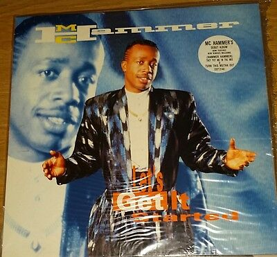 -:¦:- Mc Hammer Let's Get It Started Rare Vinyl Lp   -:¦:-