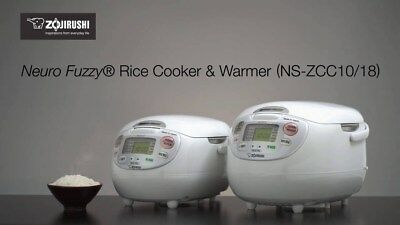 Zojirushi Neuro Fuzzy Rice Cooker & Warmer NS-ZCC10/18