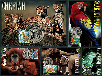 1994 Zoos Animals Maxi Cards Prepaid Postcard - WHOLESALE Lot of 100 !!!