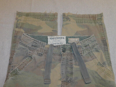 Abercrombie Camo Cargo Pants Military Distressed Burmac Boy's M W 26-27 12-14