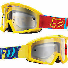 Fox Mx Gear MAIN MX VANDAL Motocross Goggles BLUE/YELLOW RRP $59.99