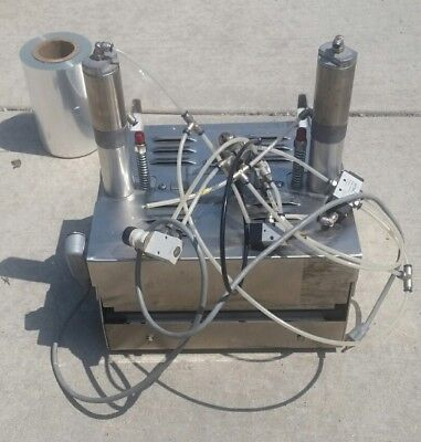 Plus Container Machinery Inc Tray Lidder manual model PBS-8