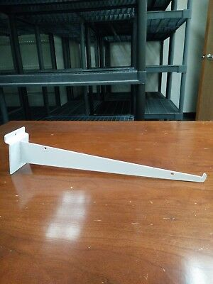 "Used 14"" Slatwall Knife Shelf Brackets With Lip - White - sold by 10 pieces/pack"