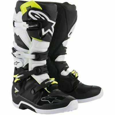Alpinestars Tech 7 Boots - Blk/whi/fluro Yellow All Sizes