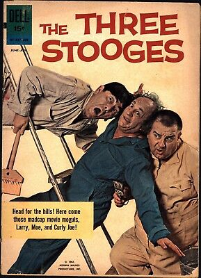 The Three Stooges #9 August 1962 Dell Comics Photo Cover Silver Age