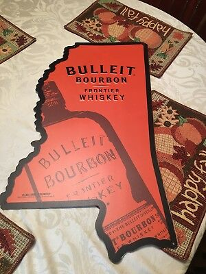 Lot of 5 Vodka whiskey Bourbon Metal Tin Sign collectable Art Mississippi shape