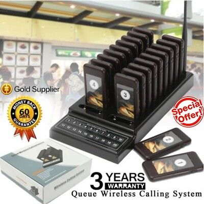 20 Restaurant Coaster Pager Guest Call Wireless Paging Queuing Calling System MY
