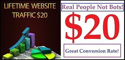 Unlimited Lifetime Website Traffic for 1 Website only $20
