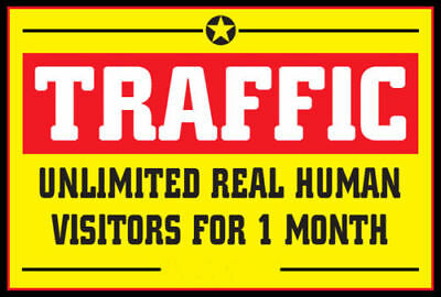 Unlimited Website Traffic for 30 days $3.99