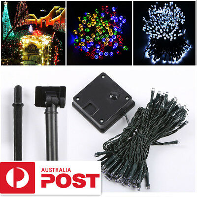 100/200 LED String Solar Powered Fairy Lights Garden Party Christmas Outdoor