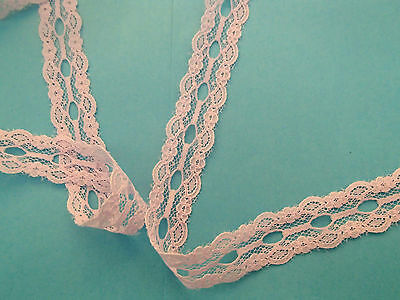 Lilac Eyelet/knitting in/insertion lace 10 metres x 22mm wide