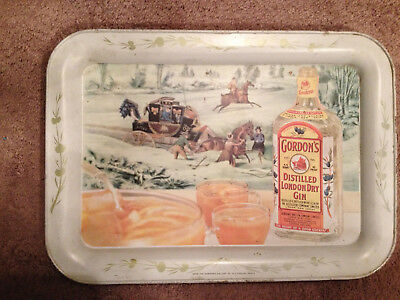 Vintage Metal Bar Tray Gordon's Distilled London Dry Gin Tanqueray Gordon & Co.