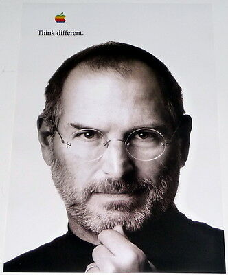 STEVE JOBS * APPLE COMPUTERS * white poster * 17/11 inches MINT