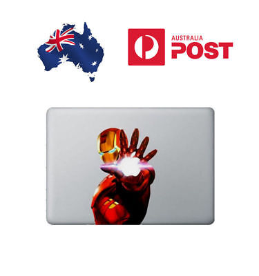 "3x Iron Man Apple MacBook Air/Pro 13"" Sticker Decal Vinyl Skin STOCK NOW"