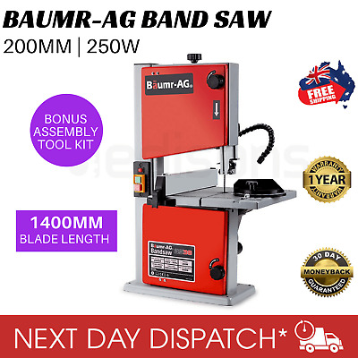 """New BAUMR-AG BS30 Bandsaw Wood Timber Cutting Table Drill Press Band Saw 250W 8"""""""