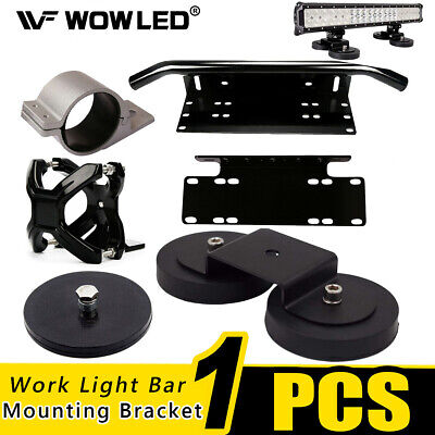 WOW - Front Bumper Number Plate Holder for LED Work Light Bar Mount Bracket 4WD