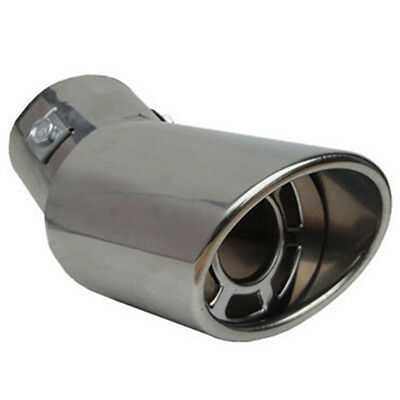 1PC Universal Stainless Steel Chrome Rear Bend Car Exhaust Tail Muffler Tip Pipe