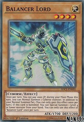 Yugioh - 3x Balancer Lord SDCL-EN005 Common - 1st Ed - NM/M
