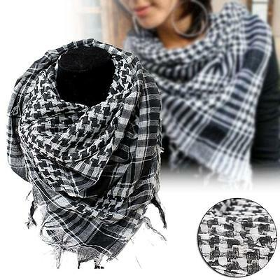 Light weight Military Arab Tactical Desert Army Shemagh KeffIyeh Scarf Black  DW